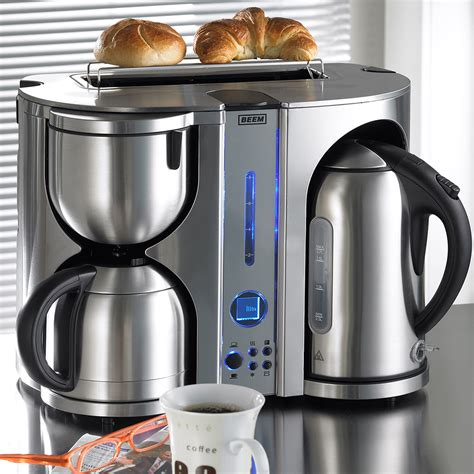 kaffeemaschine toaster wasserkocher set kaffeemaschine mit wasserkocher brilliant edelstahl 3in1