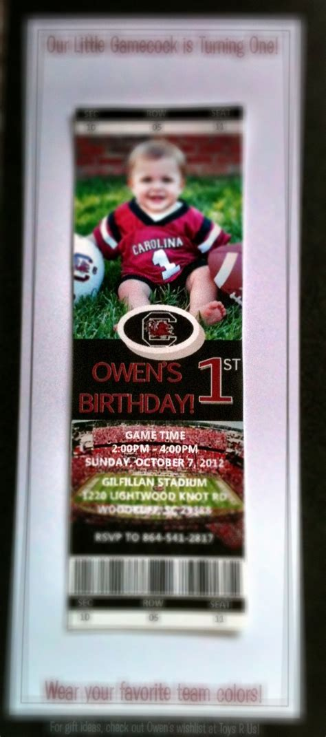 ticket template gameday 17 best ideas about gamecock football tickets on pinterest
