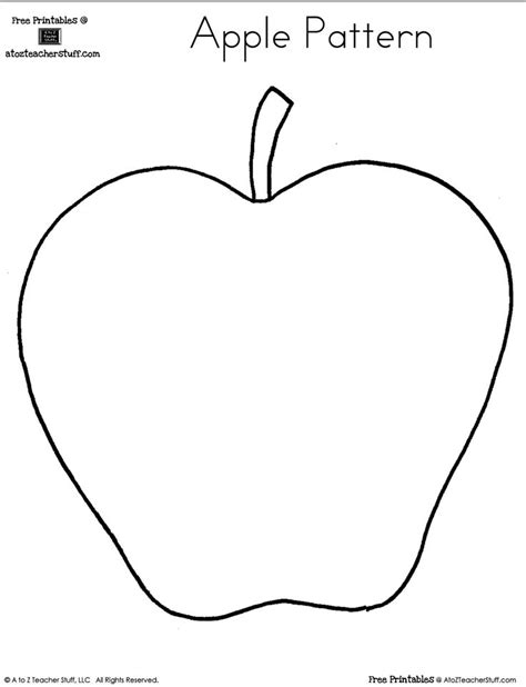 Apple Template Blank Apple Writing Page Or Shape Book Free Printable