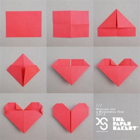 easy paper folding crafts paper hearts origami paper