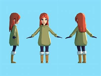 Poly Low Character Dribbble Blender 3d Lowpoly