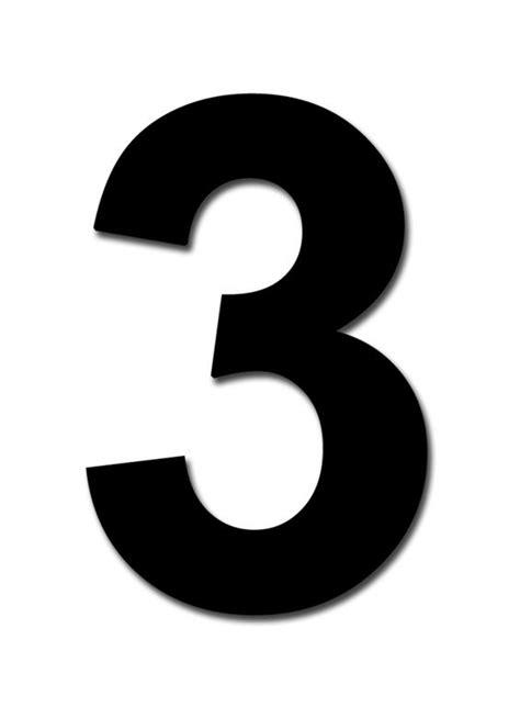 Classic Designs 3 Black Number  3 Digit Pack 5