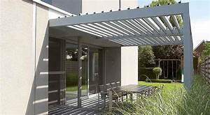 Angebaute pergola selbsttragend aluminium for Terrassenüberdachung selbsttragend