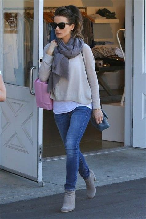 Outfits to wear with gray ankle boots | BauerGriffinOnline.com - Celebrity Photos | Celebrity ...
