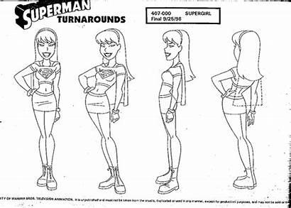 Superman Sheets Animation Character Cartoon Concept Sheet