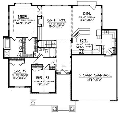 Open Concept Floor Plan by Open Concept Floor Plan For Ranch With Spacious Interior
