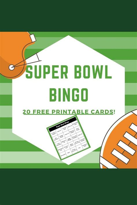 Super Bowl Bingo Can Add A Lot Of Fun To Your Super Bowl
