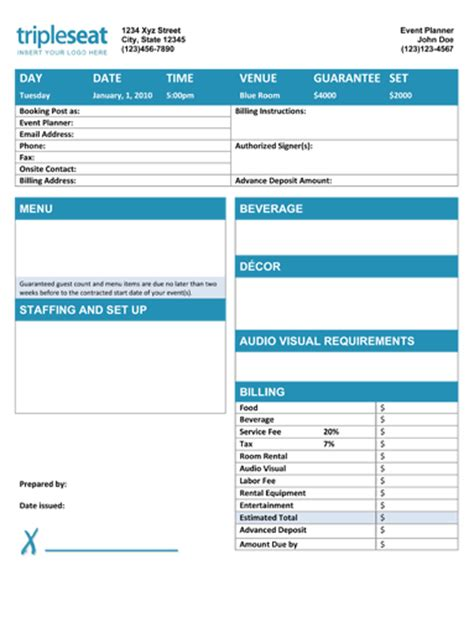 banquet event order template how to create a banquet event order template tripleseat