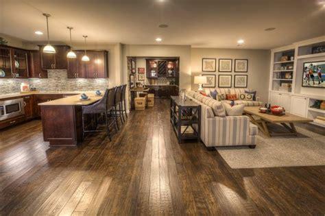 open floor plans with basement amenagement cuisine ouverte sejour cuisine en image