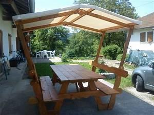 Table Picnic Bois Pas Cher : salon de jardin avec un toit cabanes and co ~ Melissatoandfro.com Idées de Décoration