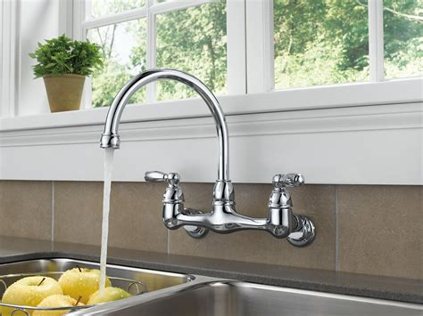 Wall Mounted Faucet Kitchen by Peerless P299305lf Choice Two Handle Wall Mounted Kitchen