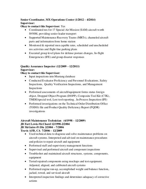 aviation quality assurance resume
