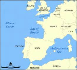 Bay of Biscay - a sea in Atlantic Ocean