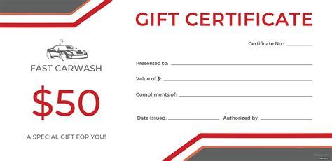 carwash gift certificate template  adobe