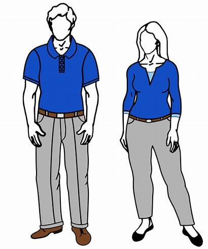 Casual Clipart Business Female Code Male Svg