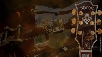 Guitar Acoustic Wallpapers Desktop Academy Shine Gibson