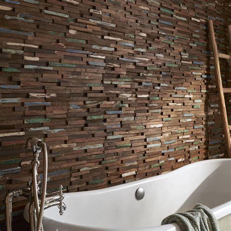 carrelage mural cuisine point p plaquette de parement bois recyclé gipsy leroy merlin