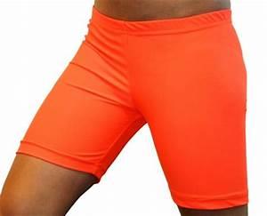 Bright Neon Orange 6 inch Inseam Spandex pression