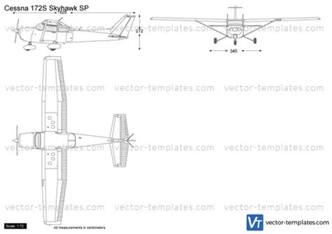 cessna 172 templates templates modern airplanes cessna cessna 172s skyhawk sp