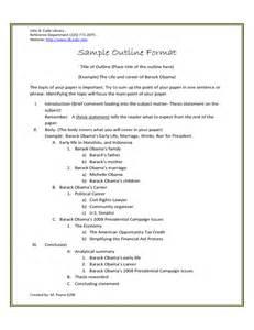 Sample Outline Format Free Download