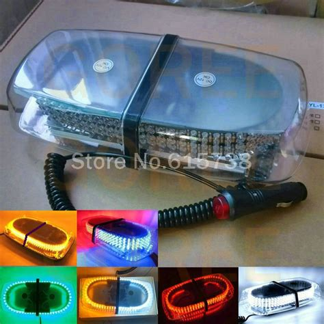 police motorcycle safety lights leds high power 240 led car roof flashing strobe beacon warning