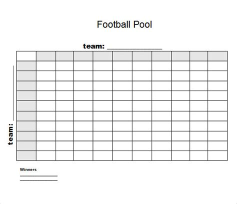 Football Betting Pool Template by 8 Football Pool Sles Sle Templates