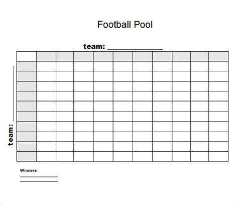 football squares template 8 football pool sles sle templates
