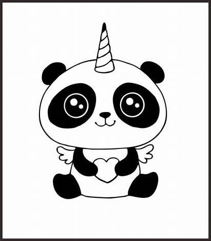 Unicorn Head Panda Svg Face Drawing Kawaii