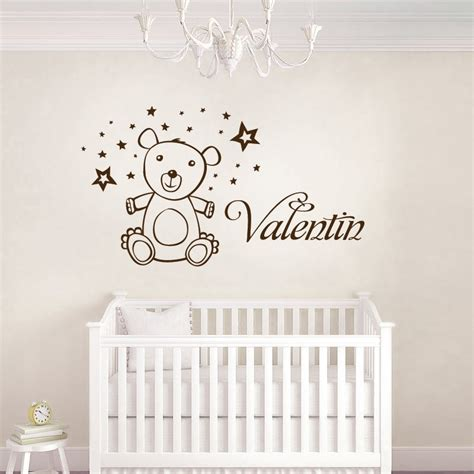 fresque murale chambre fille stickers ourson