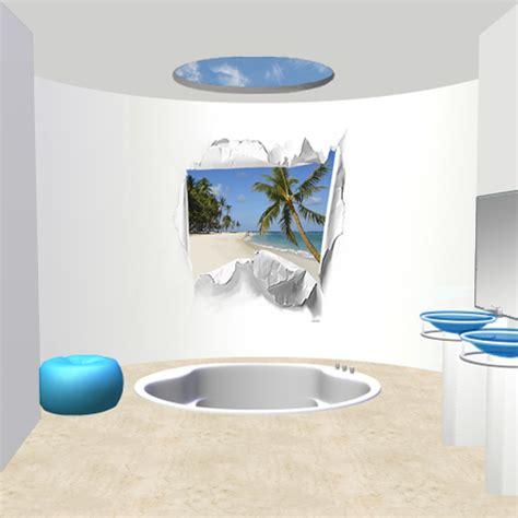 d 233 co murale piscine spa salle de bain mer exotique