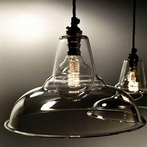 Glass pendant light shades lamp factorylux