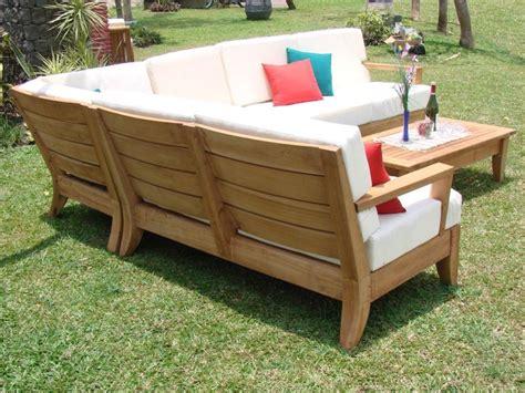 sunbrella indoor atnas grade a teak outdoor sectional sofa set