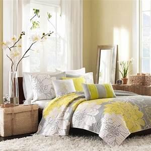 la chambre grise 40 idees pour la deco archzinefr With deco chambre gris et jaune