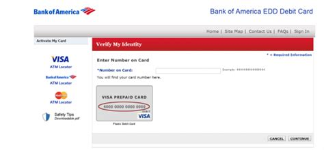 Bank Of America Edd Debit Card Login