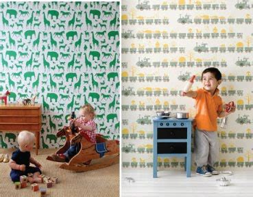 Ferm Living Animal Farm Wallpaper - nursery notations whimsical wallpapers for children s rooms