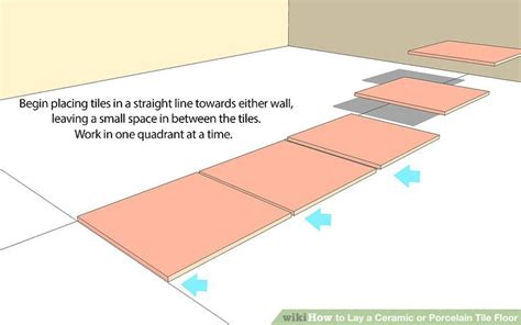 how to install ceramic tile floor in kitchen how to lay a ceramic or porcelain tile floor with pictures 9761