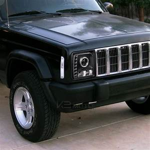 97-01 Jeep Cherokee Single Halo Smd Led Projector Headlights