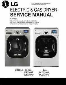 Lg Dlex3875v Dlex3875w Dryer Service Manual And