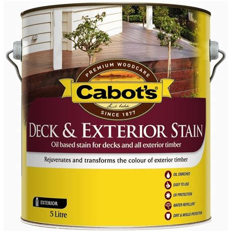 cabots deck stain bunnings cabot s deck exterior stain based 5l charcoal