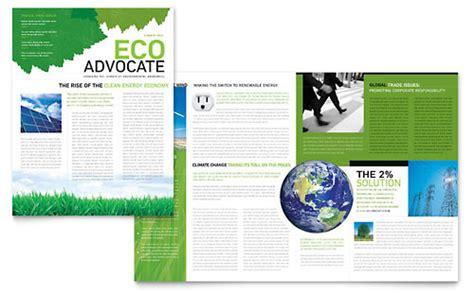 environmental  profit tri fold brochure template design