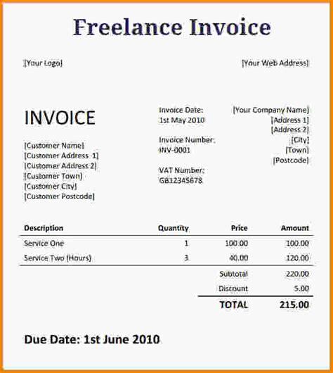 freelance writer invoice template freelance writer invoice template bonsai