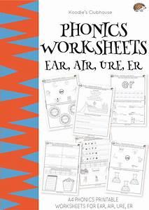 Phonics Worksheets Ear  Air  Ure  Er