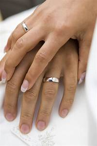 hands with wedding rings With wedding ring on right hand divorce