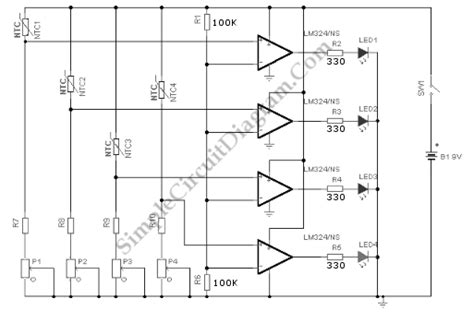 Water Level Sensor Indicator Simple Circuit Diagram