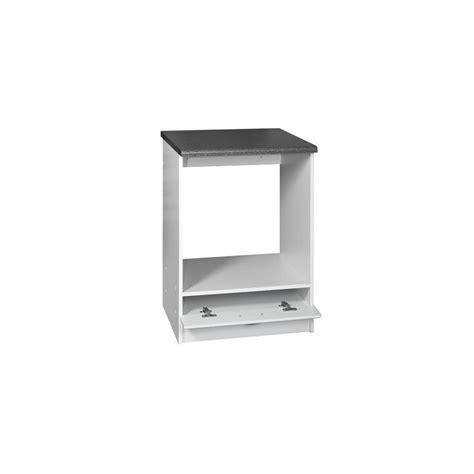 meuble cuisine 60 meuble de cuisine bas four encastrable 1 tiroir 60 cm dina