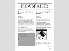 6+ newspaper template word teknoswitch