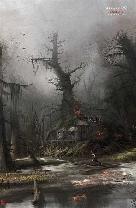 Assassins Creed Iii Liberation Concept Art By Nacho