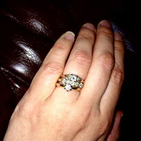 wearing  engagement rings