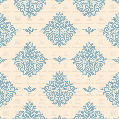 blue vintage wallpaper  victorian ornament vector