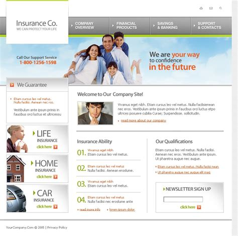 Get 1,337 insurance website templates on themeforest. Insurance Website Template #9148